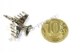 Значок Як-130 серебристый
