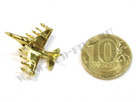 Значок Як-130 золотистый
