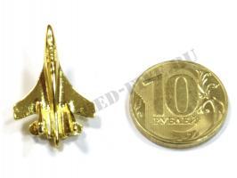 Значок Су-27(35) золотистый