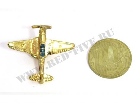 Значок Як-9 золотистый