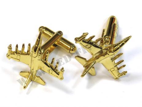 Запонки Як-130 золотистые