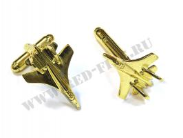Запонки Су-27(35) золотистые