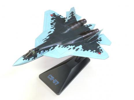 Модель металлическая Су-57 1/72 голубая