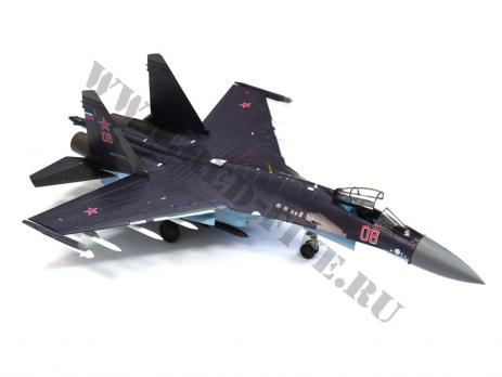 Модель металлическая Су-35 1/72 баклажан 08