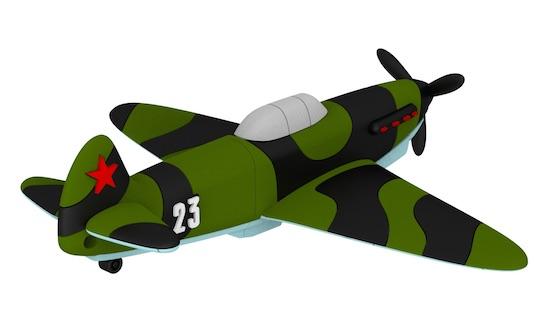 USB-накопитель самолёт Як-1Б с бортовым номером 23  емкость 32 ГБ